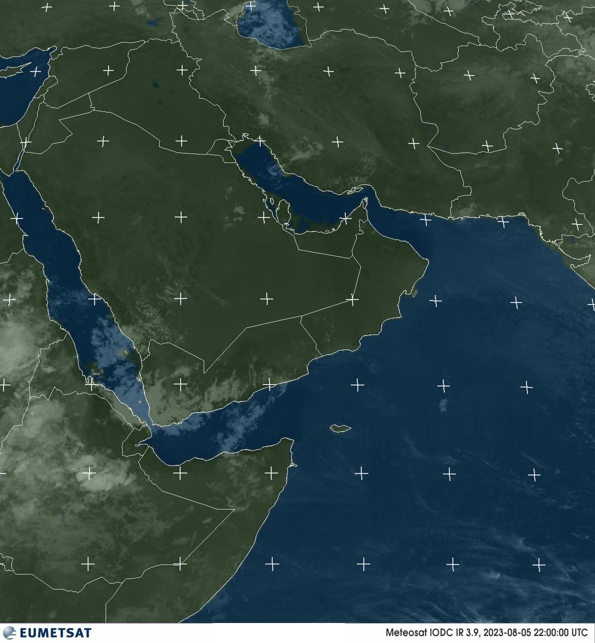 Meteosat - podczerwień : Półwysep Arabski