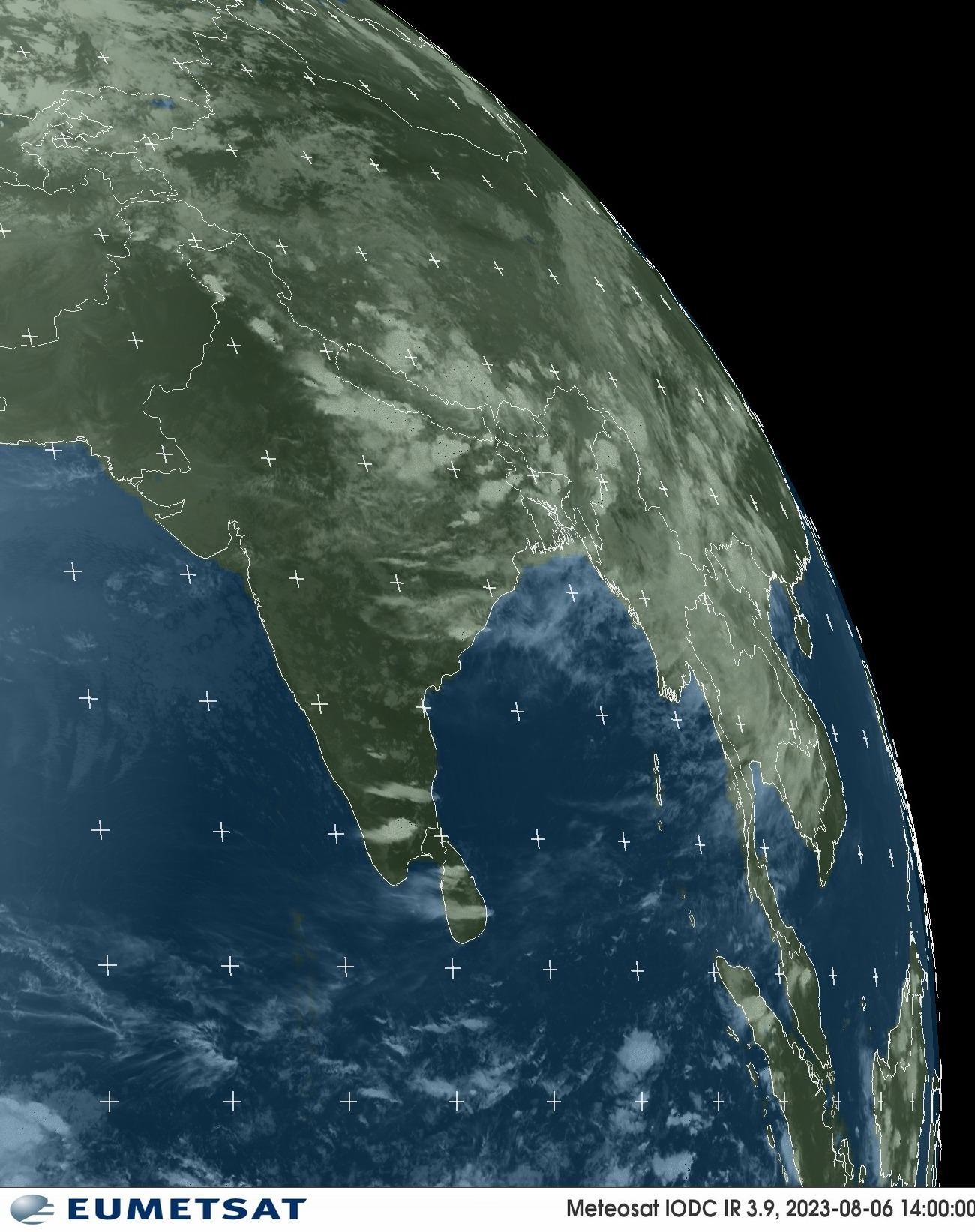 Meteosat - infraroja : Índia