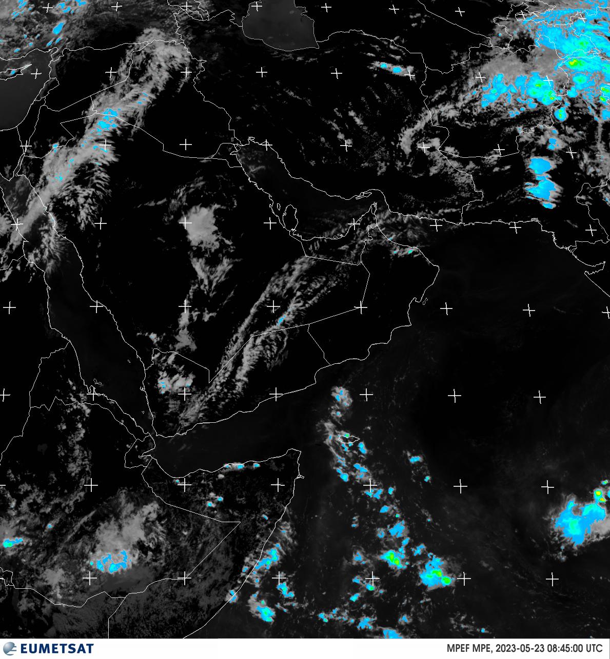 آخرین تصویر پوشش ابر و مناطق مستعد بارش