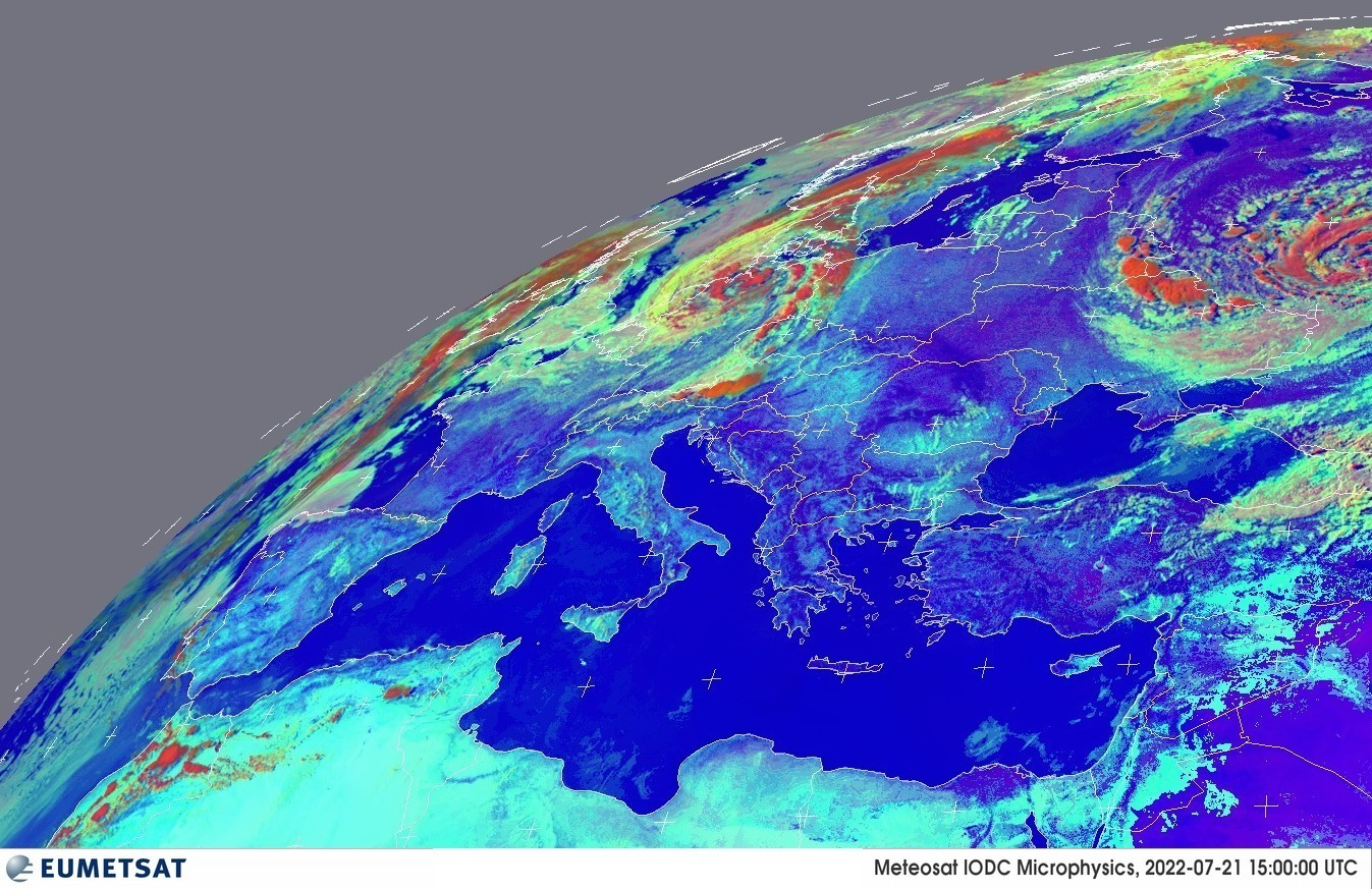 Day Microphysics - Elaborazione RGB satelliti Meteosat