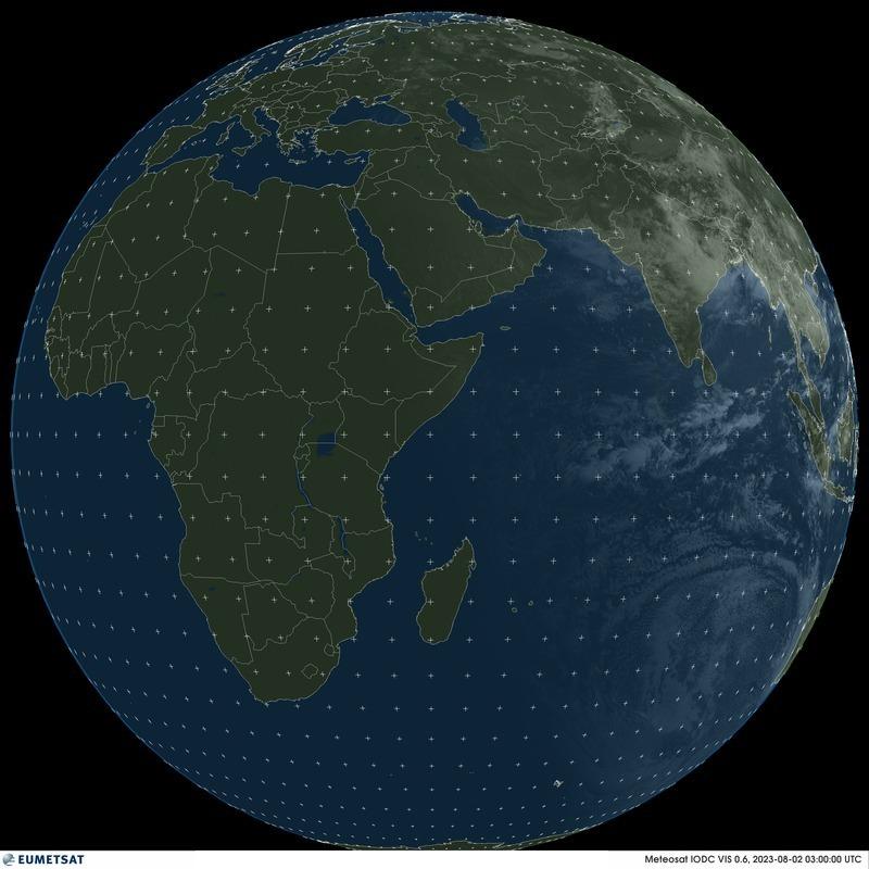 Meteosat 5 - 지구 전구 - 가시