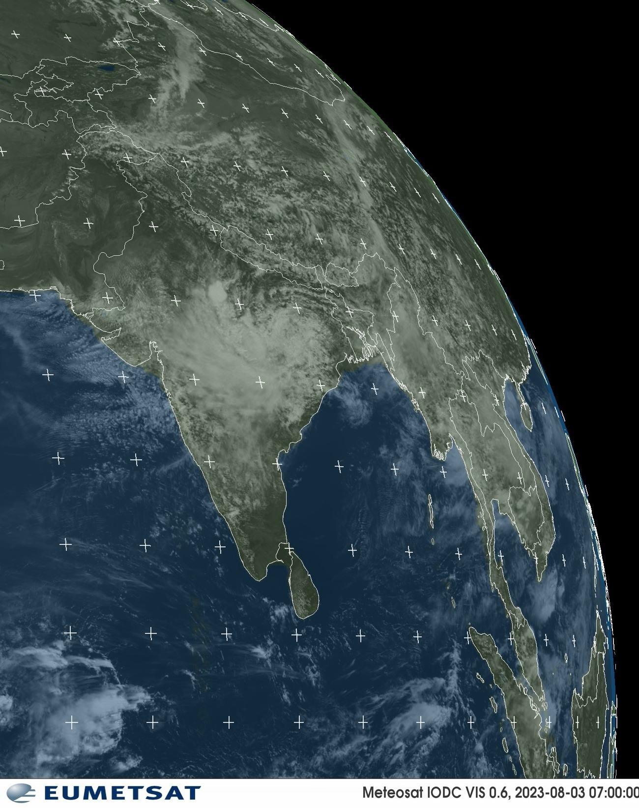 Meteosat - näkyvä : Intia