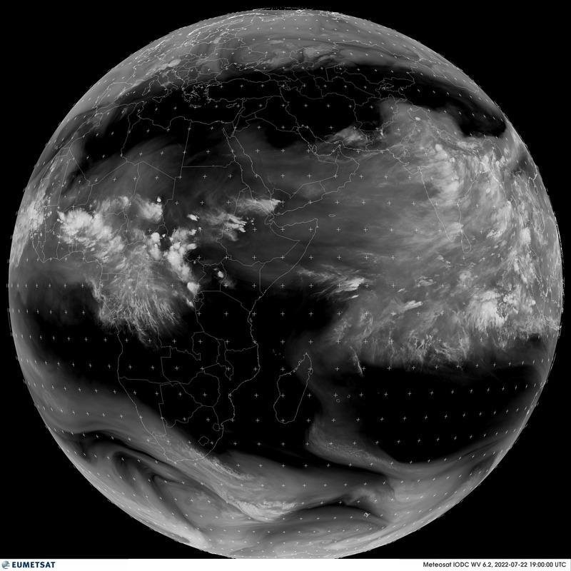 Meteosat 5 - Visas diskas - Vandens garų