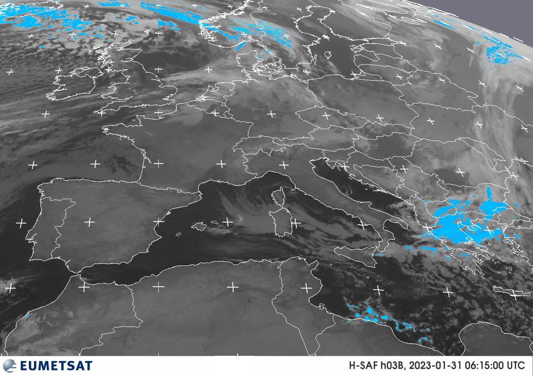 Niederschlagsbild Mitteleuropa