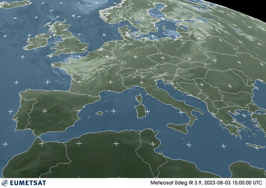 Satellite EUMETSAT - Radazione infrarossa 3.9μm