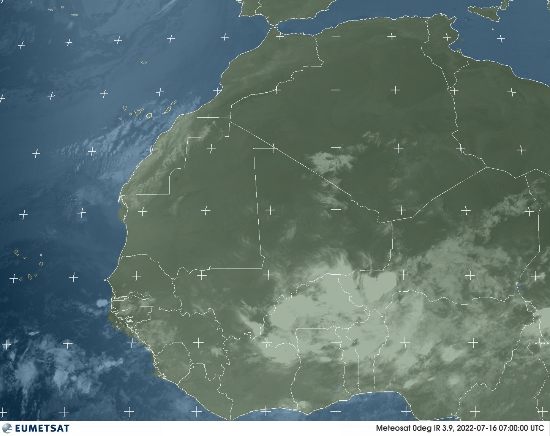 Meteosat - Àfrica Occidental - infraroja - 3.9