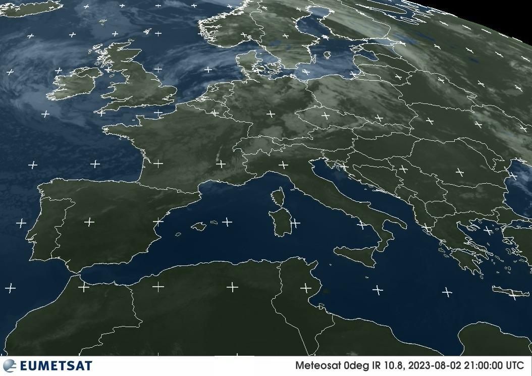 Última imatge infraroja del Meteosat