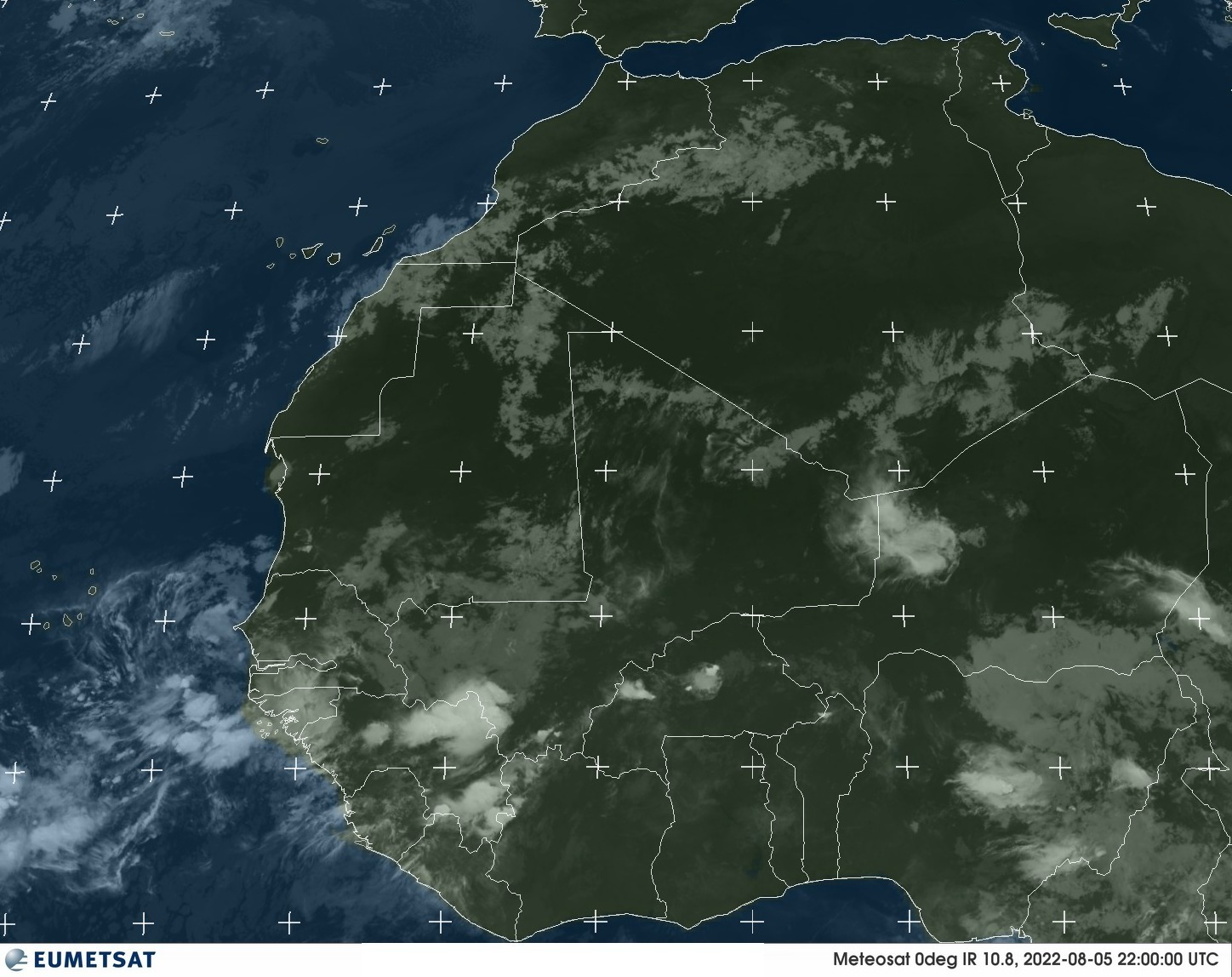 Meteosat - Àfrica Occidental - infraroja - 10.8