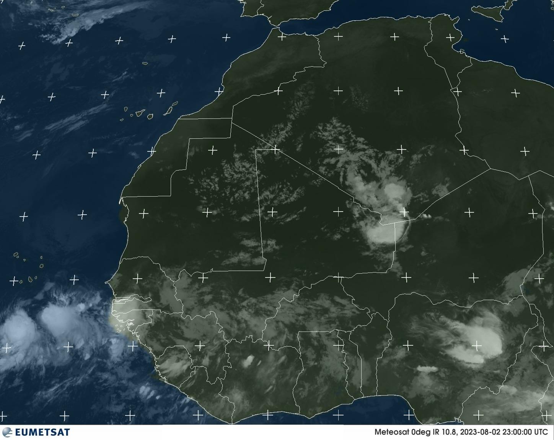 Meteosat - West-Afrika - infrarood - 10.8