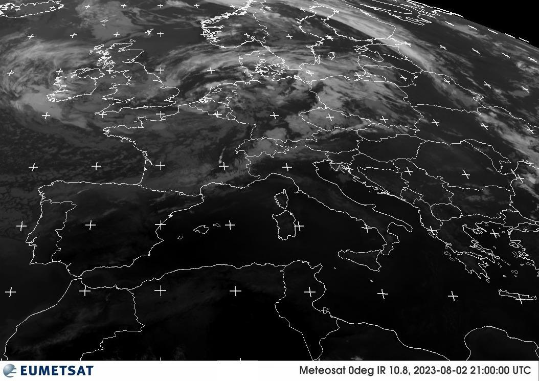 Ultime immagini Meteosat da EUMETSAT