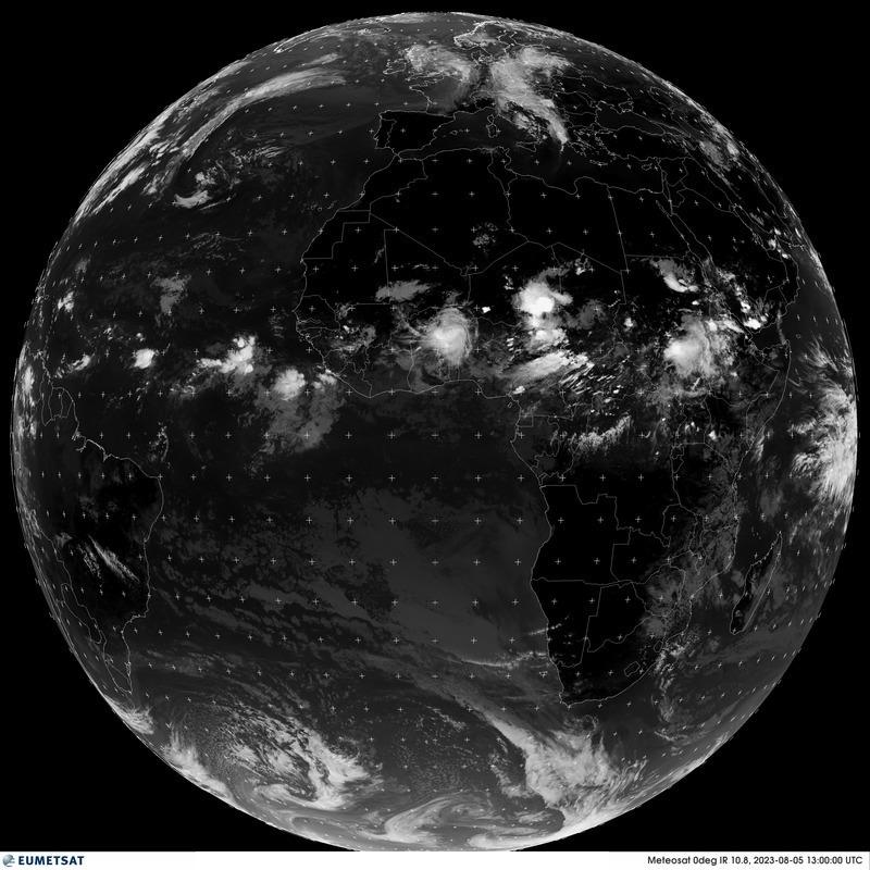 Última imagen completa de la Tierra tomada desde el satélite Meteosat-11 con infrarrojos