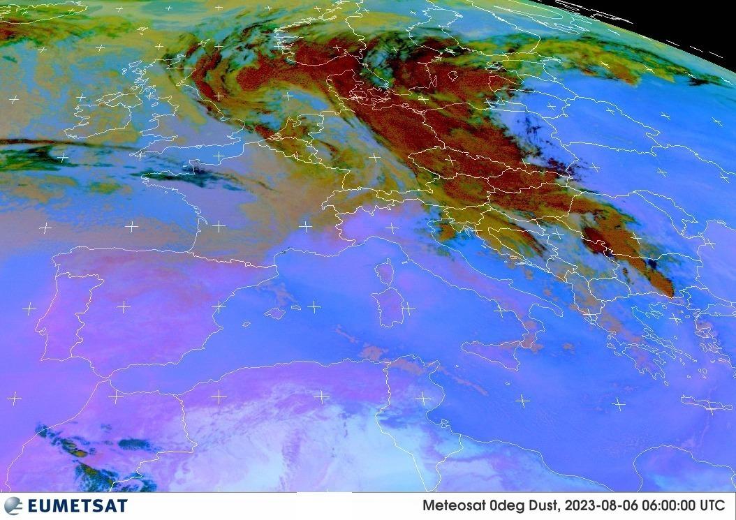 Satellite EUMETSAT - Sabbia di origine Sahariana