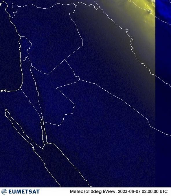 Meteosat - RGB : Israel Palästina Libanon Syrien Jordanien
