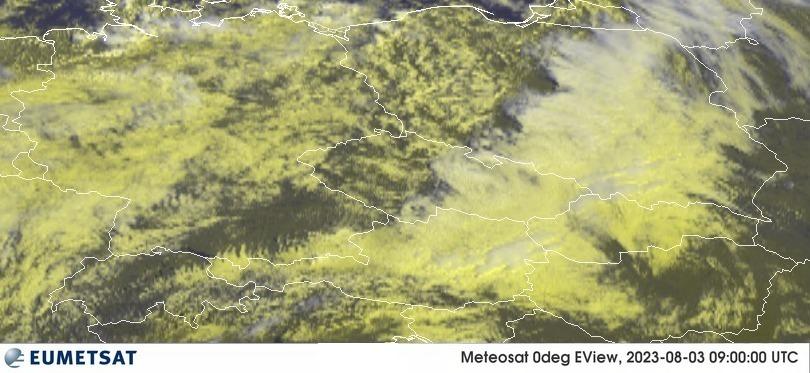 Meteosat - RGB : Vokietija, Lenkija, Čekija, Austrija, Slovakija, Vengrija, Šveicarija