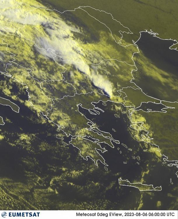 Meteosat - RGB : Řecko, Bulharsko, Rumunsko, Srbsko, Bosna a Hercegovina, Makedonie, Albánie, Kosovo, Moldavsko, Turecko