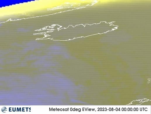 Meteosat - RGB : Islandija