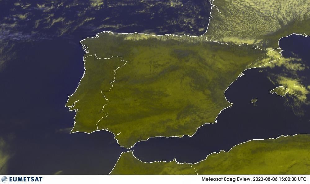 Meteosat - RGB : Ispanija, Portugalija