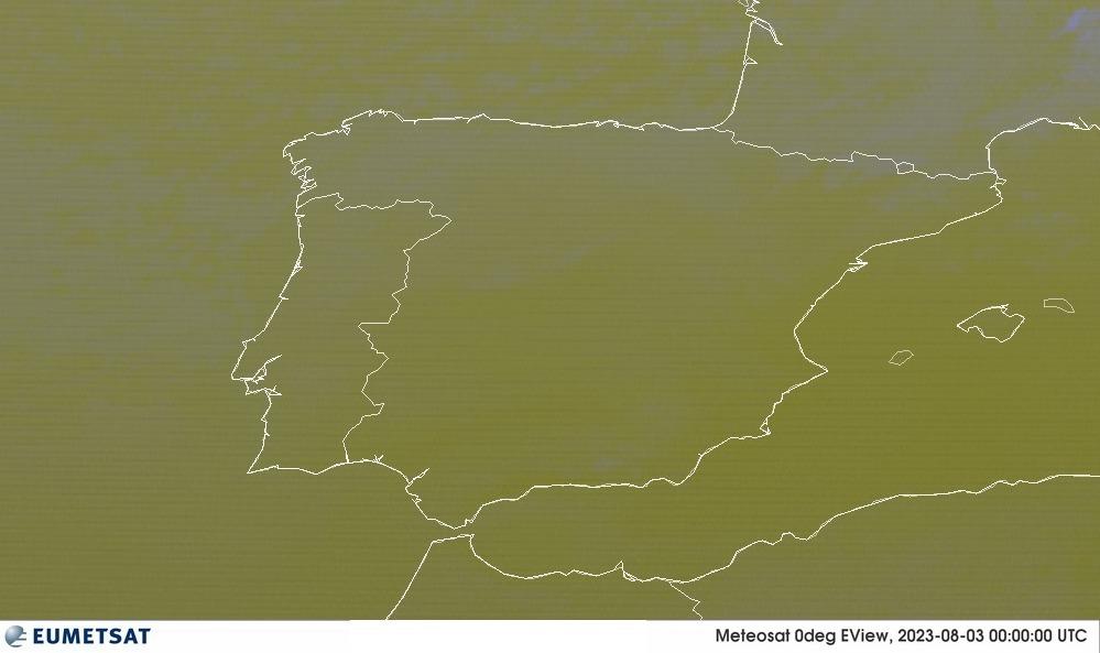 Meteosat - RGB : Španělsko, Portugalsko