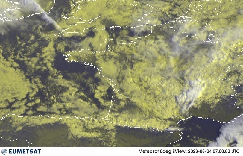 Meteosat - RGB : Francie, Belgie