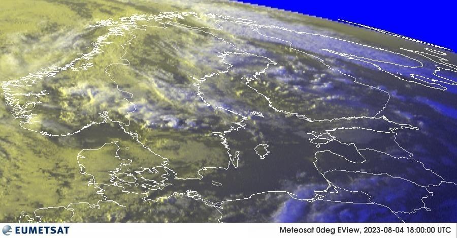 Meteosat - RGB : Δανία, Νορβηγία, Σουηδία, Φινλανδία, Εσθονία, Λετονία, Λιθουανία