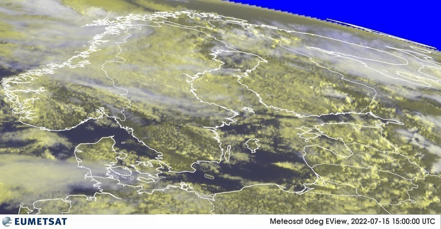 Meteosat - RGB : Danija, Norvegija, Švedija, Suomija, Estija, Latvija, Lietuva