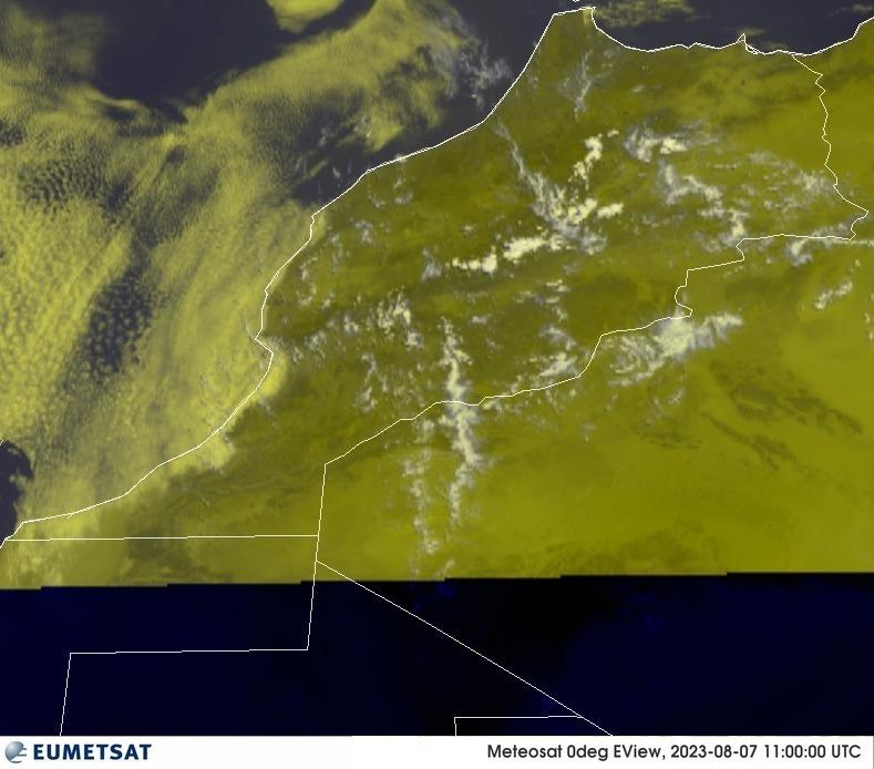 Meteosat - RGB : المغرب