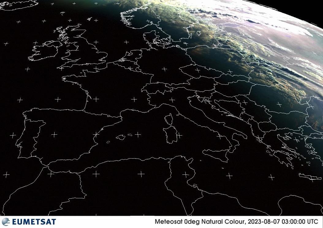 © EUMETSAT | Internetwetter -wissen, wie das Wetter wird- | Satellitenbild von Europa