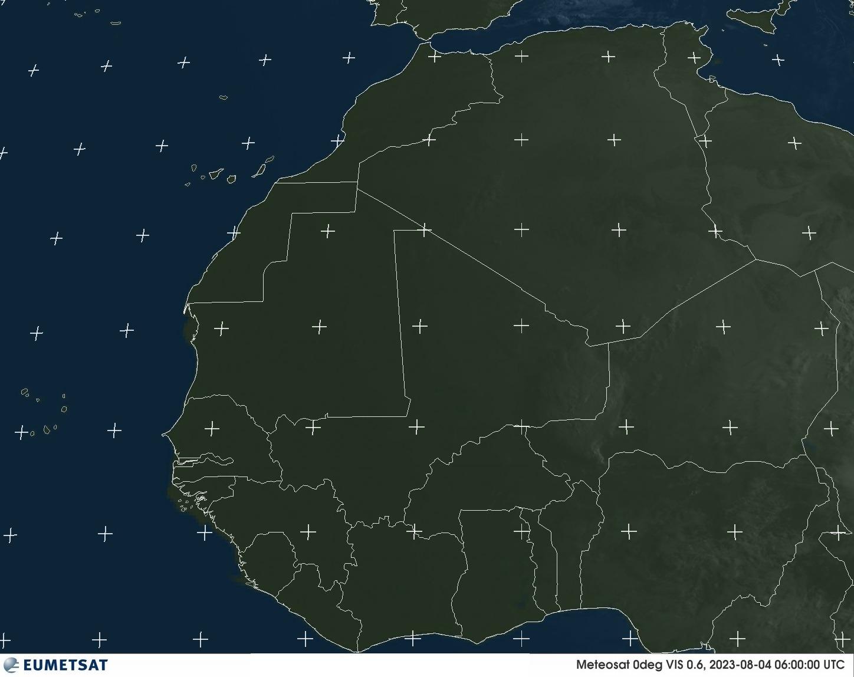 Meteosat - Vakarų Afrika - matoma