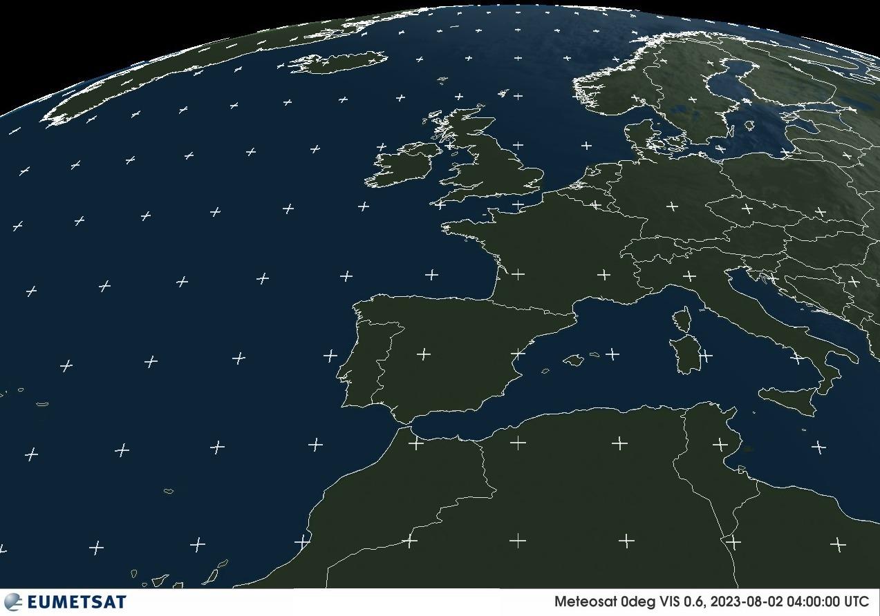 Imagen del meteosat en el canal visible