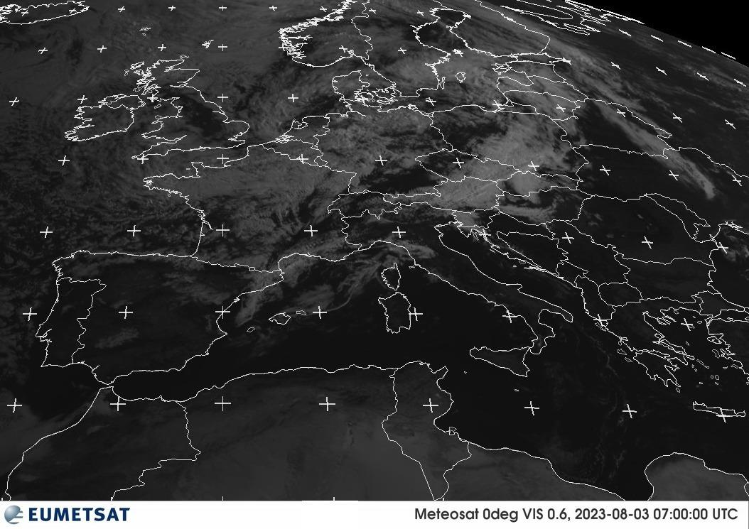 Satellite EUMETSAT - Radazione visibile a 0.6μm