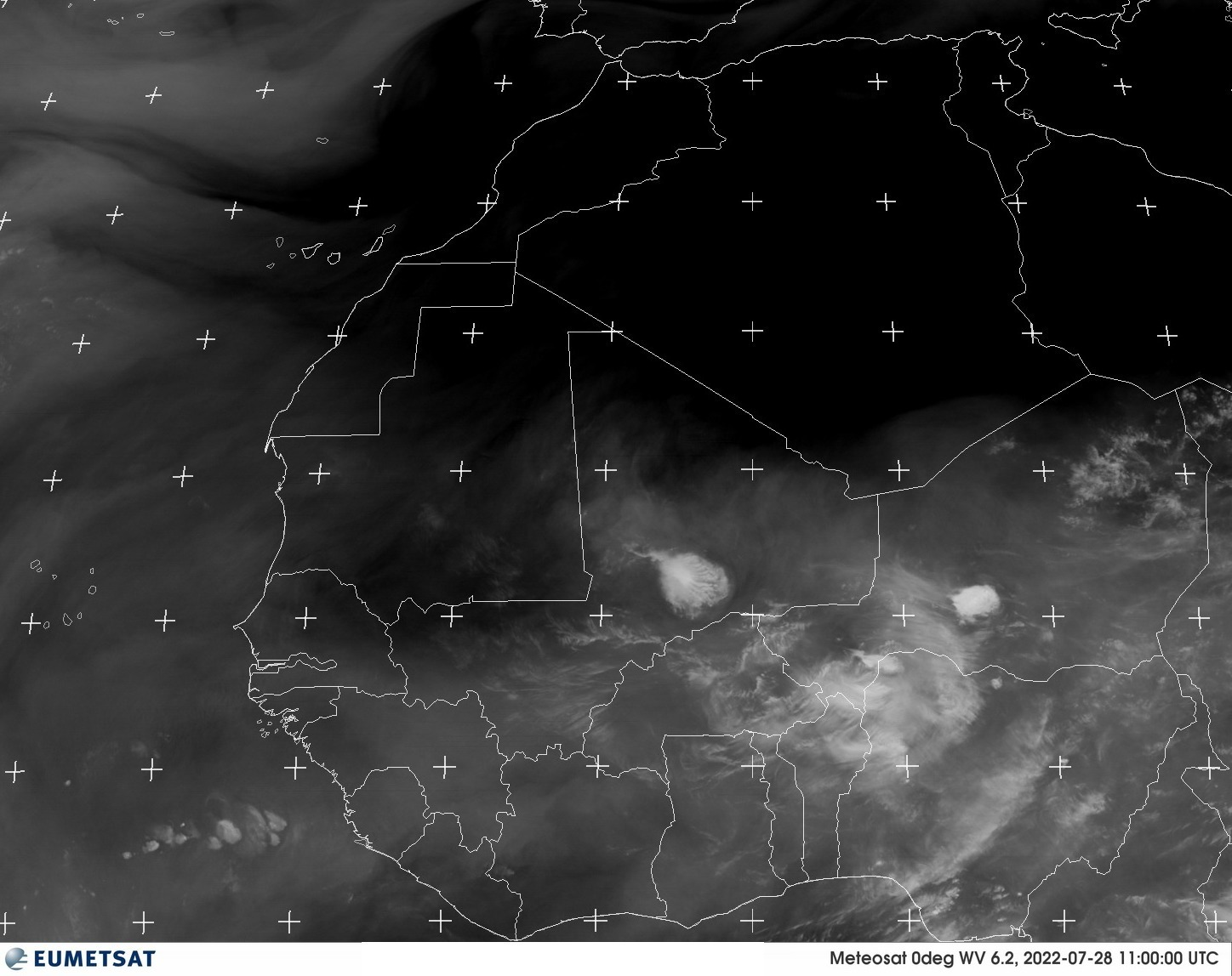 Meteosat - West-Afrika - waterdamp